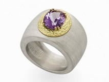 RING OF GOLD AND SILVER WITH AMETHYST 9956SOYR Marina Garcia