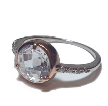 Ring silver with cubic zirconia LK Liska. LA6658AN-B LK.LA6658AN-B