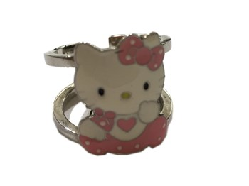 HELLO KITTY SILVER FEMALE RING ANKT8-HK