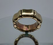 RING LE CARRÉ BAMBOO SILVER OF LAW WITH BATH OF GOLD LA027AM.15