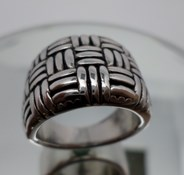 RING LE CARRÉ SILVER RHODIUM-PLATED LA023RO.17