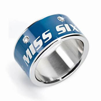 Ring Miss Sixty steel and enamel SMGQ090