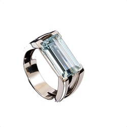 RING WHITE GOLD AND AQUAMARINE.