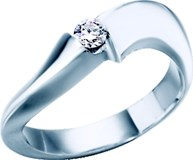 RING WHITE GOLD SOLITAIRE DIAMOND BRILLIANT-CUT