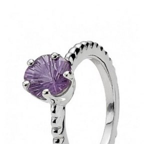 Pandora ring Amethyst 190826AM