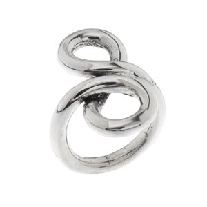 RING SILVER PUERA DOUBLE LOOP PPA241 Plata Pura