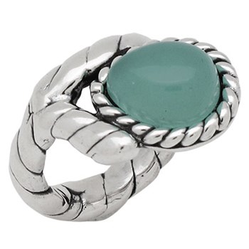 PURE SILVER RING WRAPPED NATURAL STONE PPA365 Plata Pura