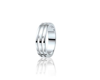 RING SILVER AND DIAMONDS ZINZI ZDR15