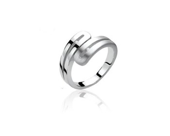 RING SILVER AND DIAMONDS ZINZI ZDR22