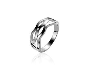 RING SILVER AND DIAMONDS ZINZI ZDR41