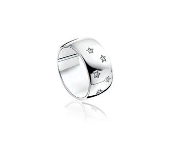 RING SILVER AND DIAMONDS ZINZI ZDR47