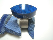 RING SILVER AND LAPISLAZULI