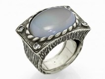 SILVER ZIRCONITAS AND 9086S RUTILATED QUARTZ RING Marina Garcia