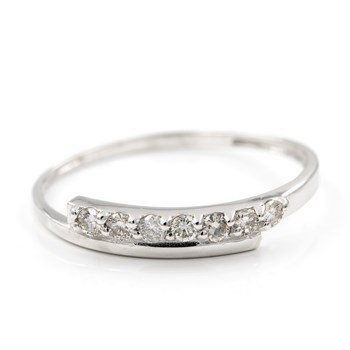 RING MADE IN WHITE GOLD 750 THOUSANDTHS (18KT) WITH BRILLIANT-CUT DIAMONDS OF 0,20 KTS