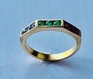 RING THREE COLOURS AND 18K GOLD