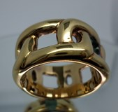 RING LE CARRÉ SILVER-GILT LA037AM.19