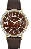 PLATED GO WATCH STRAP BROWN Go Girl Only 698252