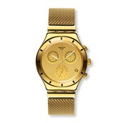 SWATCH GOLDEN COVER YCG410GA IRONY CHRONO WATCH