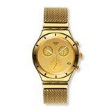 SWATCH GOLDEN COUVERTURE YCG410GA IRONY CHRONO WATCH