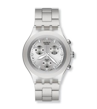 SWATCH DIAPHANE FULL-BLOODED SVCK4038G SILVER WATCH