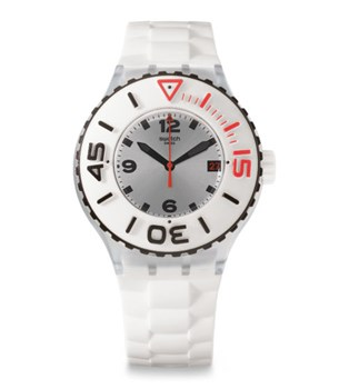 WATCH SWATCH SCUBA WHITE SUUK401