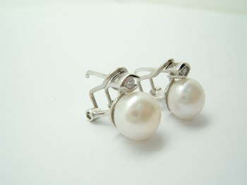 EARRINGS YOU AND ME PEARL AND CUBIC ZIRCONIA