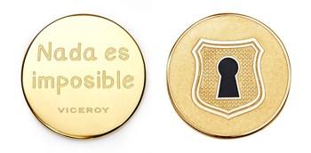 Medalla Viceroy Medallon Plaisir acero dorado cerradura VMC0004-06