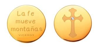 Medalla Viceroy Plaisir Medallon acero cruz dorado VMC0002-06